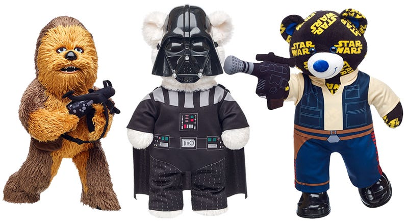 Illustration for article titled Star Wars Build-A-Bears Are Packed With Evil Gift Potential