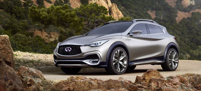 Illustration for article titled Infiniti QX30 Concept: Swoops For Days
