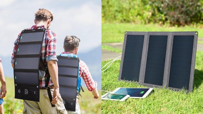 Aukey 28W USB Solar Charger | $52 | Amazon | Promo code AUKEYPP5Aukey 21W USB Solar Charger | $42 | Amazon | Promo code AUKEYP25