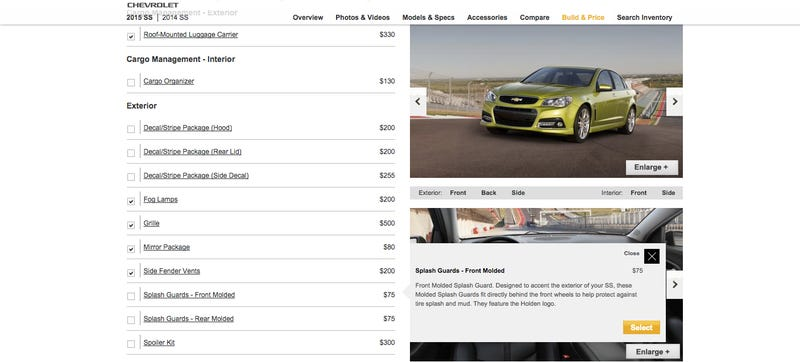 Illustration for article titled Lazy Geniuses At GM Leave Holden Logos On Chevy SS Options