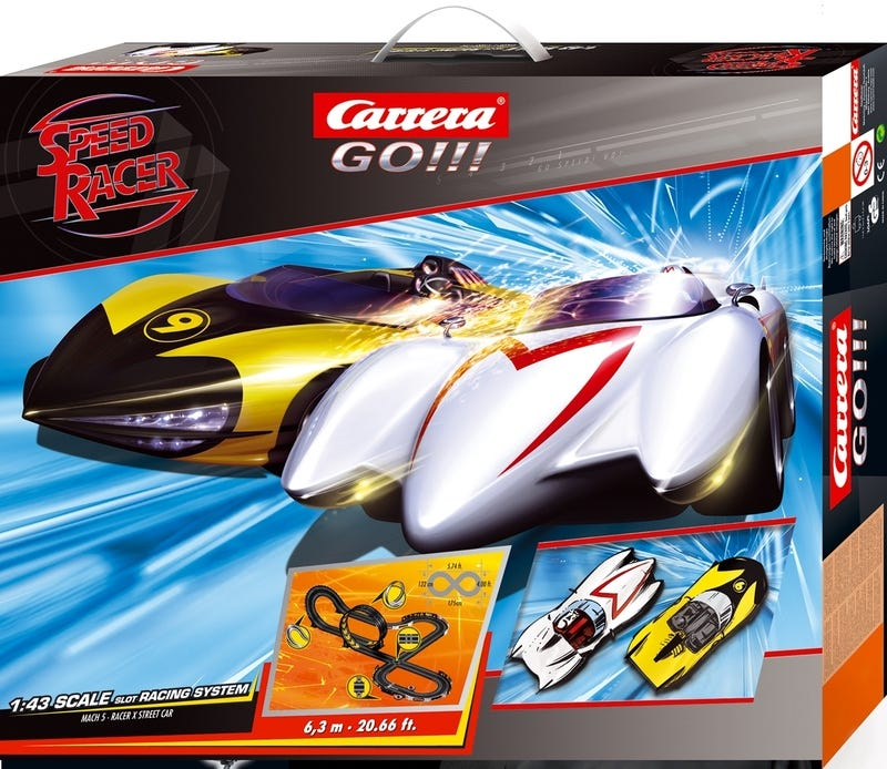 Illustration for article titled Speed Racer Slot Race Cars Were Bound to Happen from the Beginning