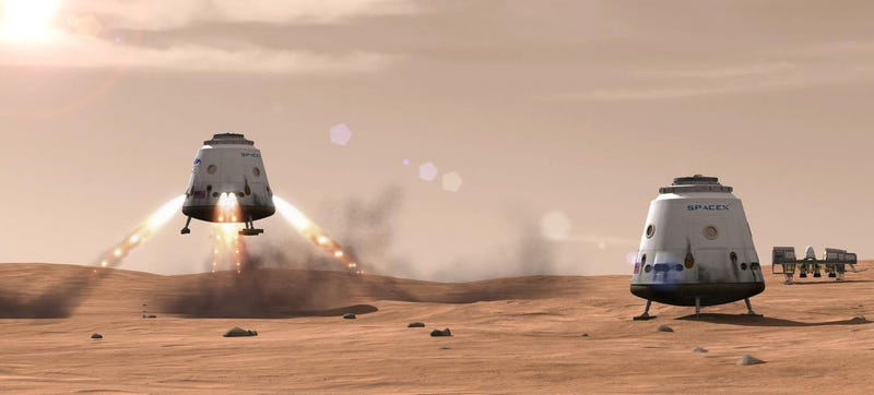 Illustration for article titled Humans will land on Mars by 2026, says SpaceX Elon Musk