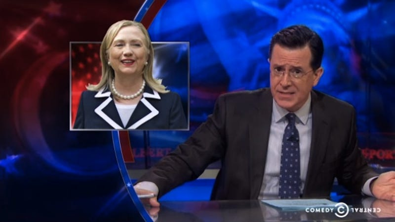 Illustration for article titled Stephen Colbert Rant on Hillary's GrandmaGate is Very Cathartic