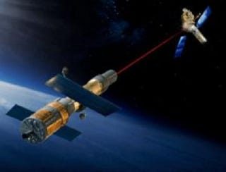 Illustration for article titled Laser 'Tractor Beams' To Tidy Up Space Junk