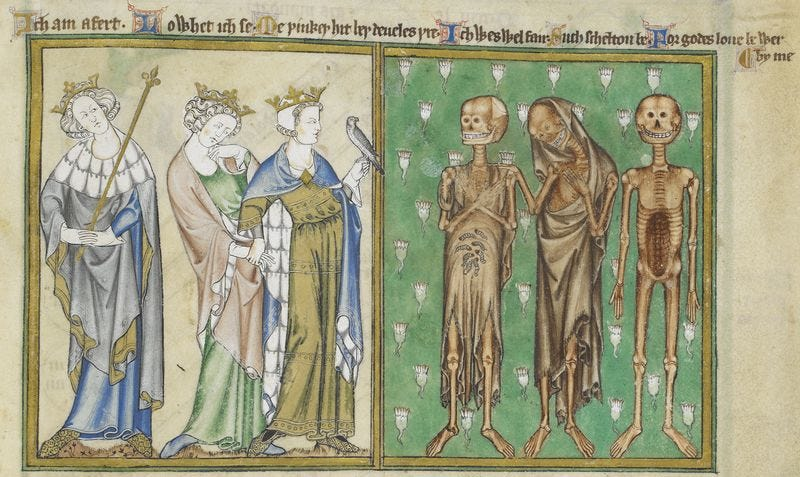 Illustration for article titled Medieval Manuscripts Depict A Terrifying Tale Of The Walking Dead