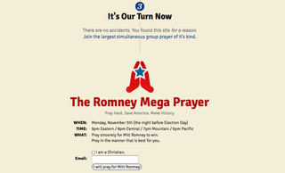 Illustration for article titled Practical Christians Develop New Game Plan: Pray for Romney Because of Science
