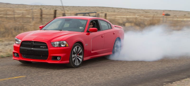 Illustration for article titled I Ripped Sick Charger SRT8 Wedding Burnouts For America