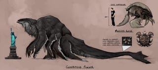"""Illustration for article titled Secrets of the SNAFU Behind the Name """"Cloverfield"""""""