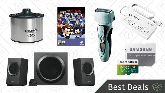 Friday s Best Deals: Logitech Speaker System, Panasonic Shavers, MicroSD Cards, And More
