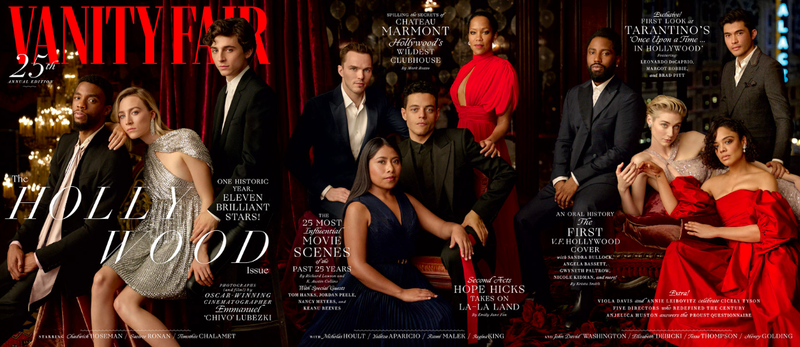 Illustration for article titled Vanity Fair's Hollywood Issue Cover Features Majority People of Color For the First Time