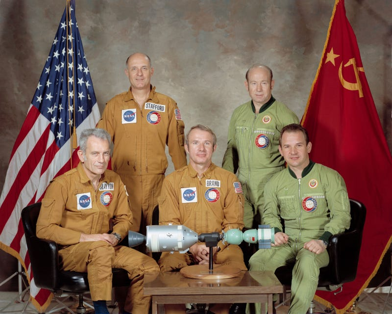 Image result for apollo and soyuz link up in space