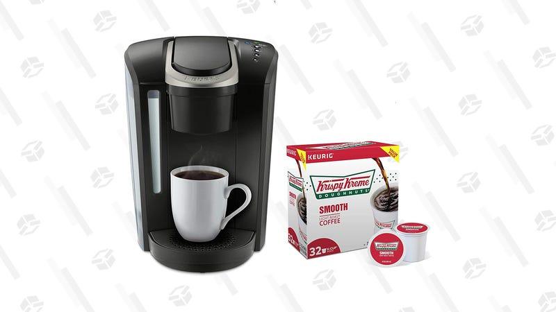 Keurig K-Select + 32 Krispy Kreme K-Cups | $90 | Amazon