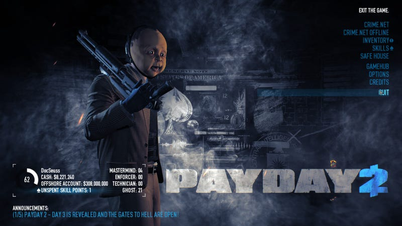 Illustration for article titled Payday 2 Halloween Event is On NOW!