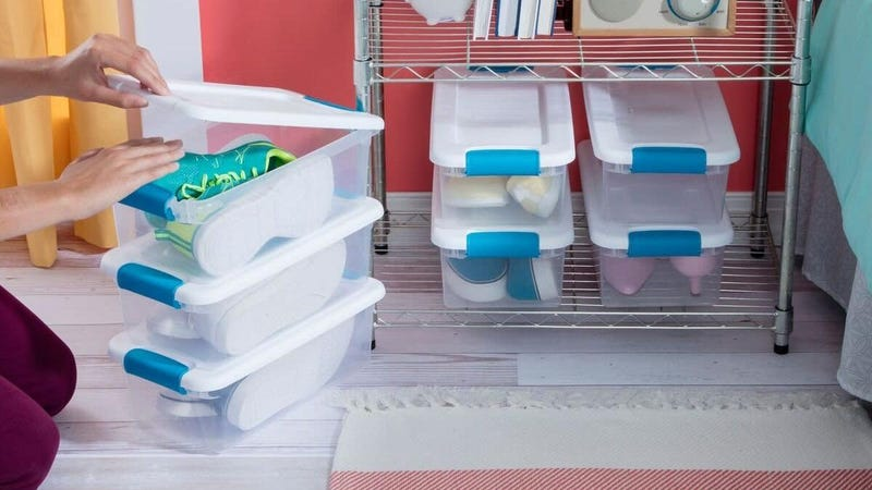 Sterlite 12-Pack 6 qt. Storage Boxes | $18 | Amazon | Temporarily out of stock, but orderable