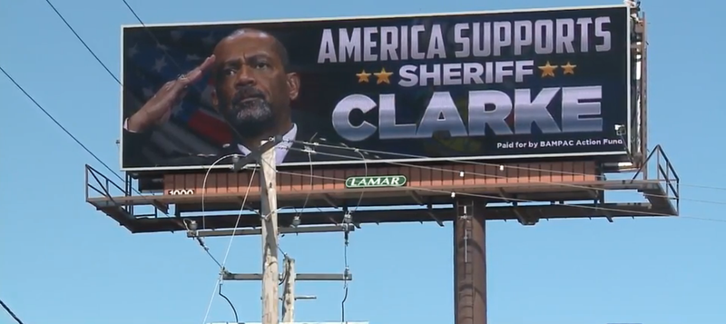 Illustration for article titled 'America Supports Sheriff Clarke' Billboard Is the Horrifying Us Follow-Up Nobody Asked For