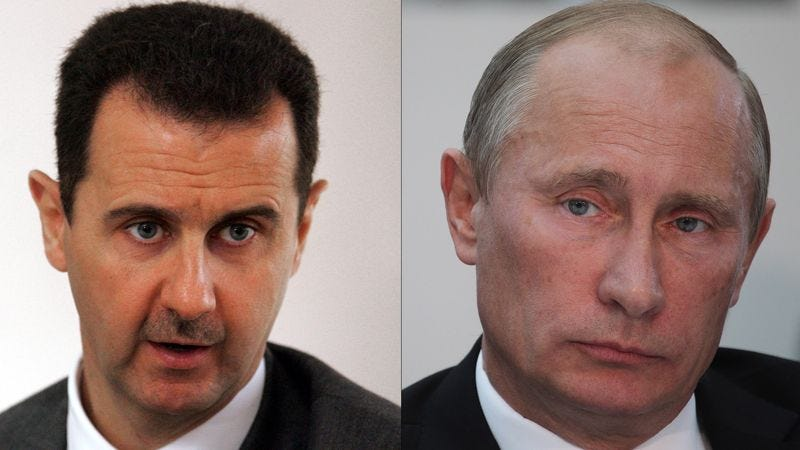 Illustration for article titled Assad Unable To Convince Putin That He Used Chemical Weapons On Syrians