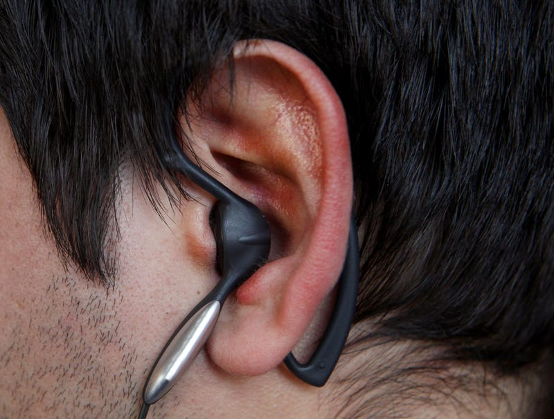 Illustration for article titled Man's Ear Violently Contorted In Earphone's Vice Grip