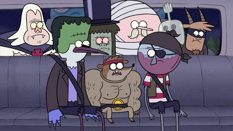"""Illustration for article titled Regular Show: """"Regular Show Presents Terror Tales Of The Park II"""""""