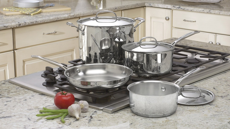 Cuisinart 77-7 Chef's Classic Stainless 7-Piece Cookware Set | $50 | Amazon