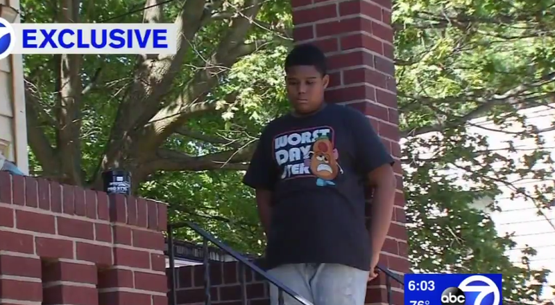 Ten-year-old Legend Preston, who was chased by Newark, N.J., police officers who had guns drawn in what authorities say was a case of mistaken identity WABC screenshot