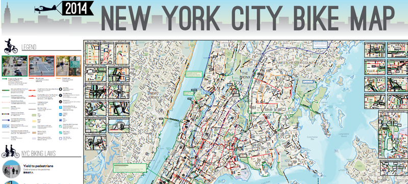 Here\'s NYC\'s Awesome 2014 Bike Map