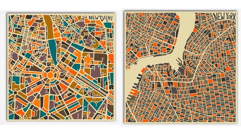 Get Lost In These Abstract Maps of the World's Great Cities