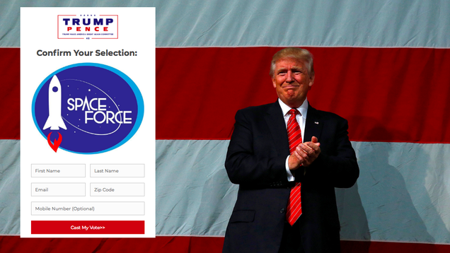 Trump Wants You to Choose a Space Force Logo... for the Merch He ll Sell You