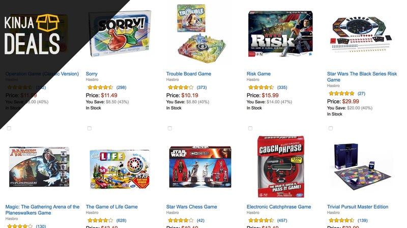 Illustration for article titled Save Big on Hasbro Toys and Board Games In Today's Amazon Gold Box