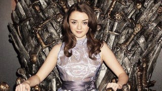 Illustration for article titled Check Out Maisie Williams' Badass Outfit On The Doctor Who Set
