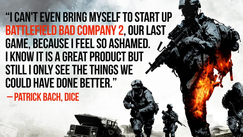 Illustration for article titled Battlefield 3's Producer Is His Own Viciously Hard Critic, Says He's 'Ashamed' of Bad Company 2