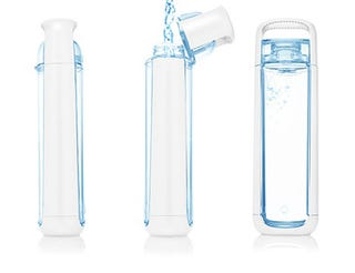 Illustration for article titled Kor One Water Bottle Is One-Handable, Reusable and Very Nice Looking