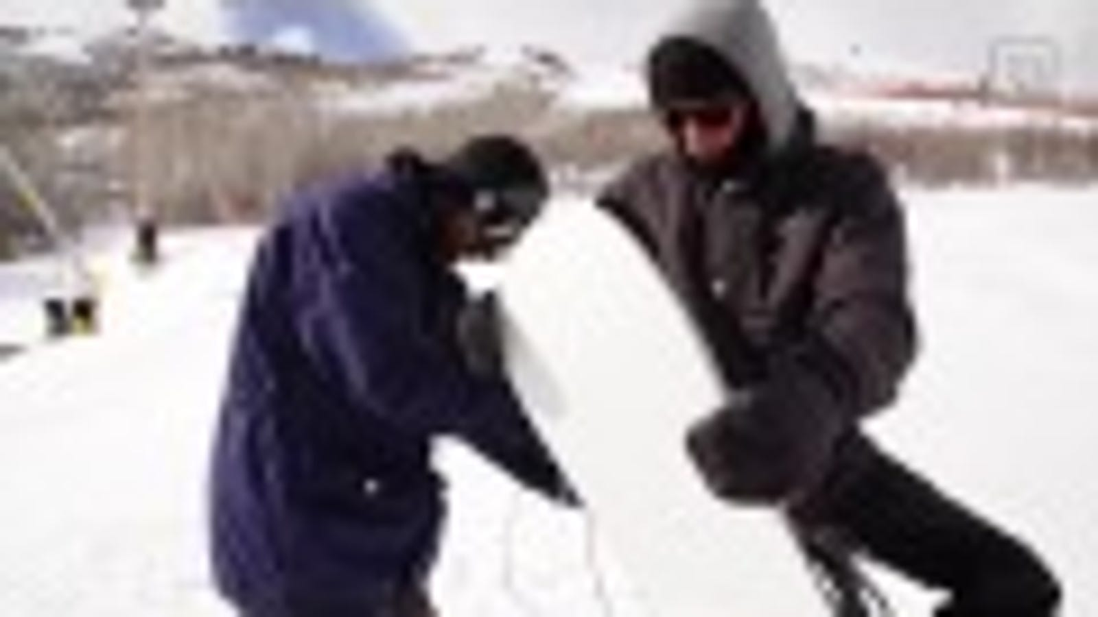 Watch a Mad Scientist Build and Ride a 128-Degree Heated Snowboard
