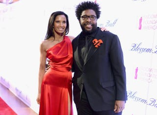 Padma Lakshmi and Questlove at the sixth annual Blossom Ball in New York City March 7, 2014Dimitrios Kambouris/Getty Images for Blossom Ball