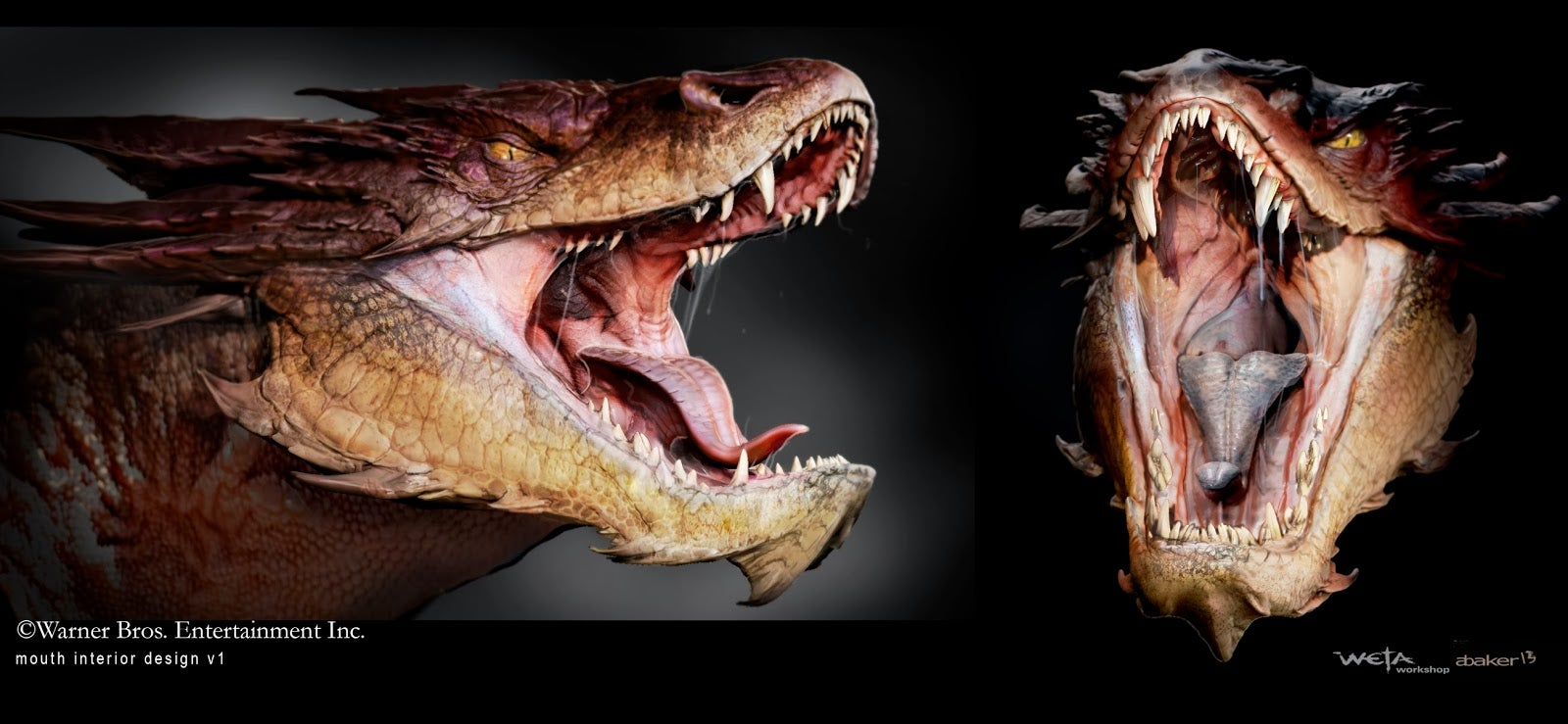 Gorgeous Smaug concept art shows all the scaly details ...