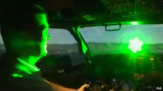 A no shit real picture by the FAA of a real no shit laser in a real no shit cockpit.