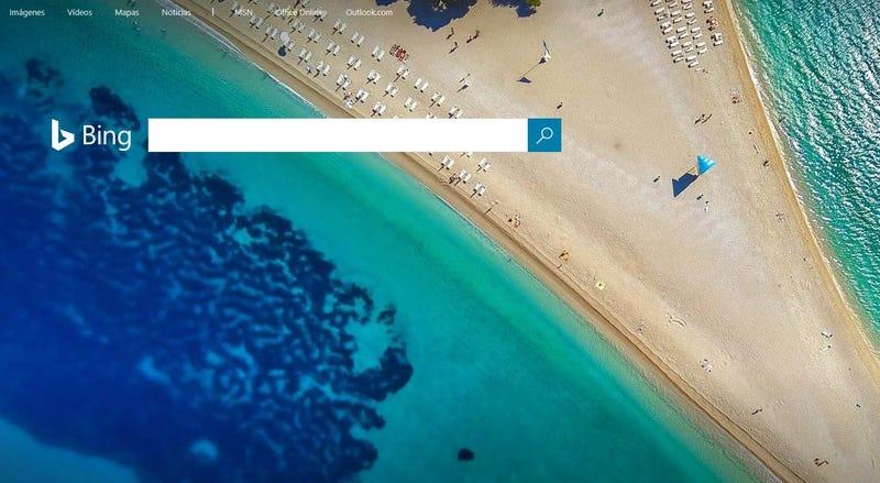 Illustration for article titled Hay un pene en la página principal de Bing y nadie en Microsoft se ha dado cuenta [Actualizado]