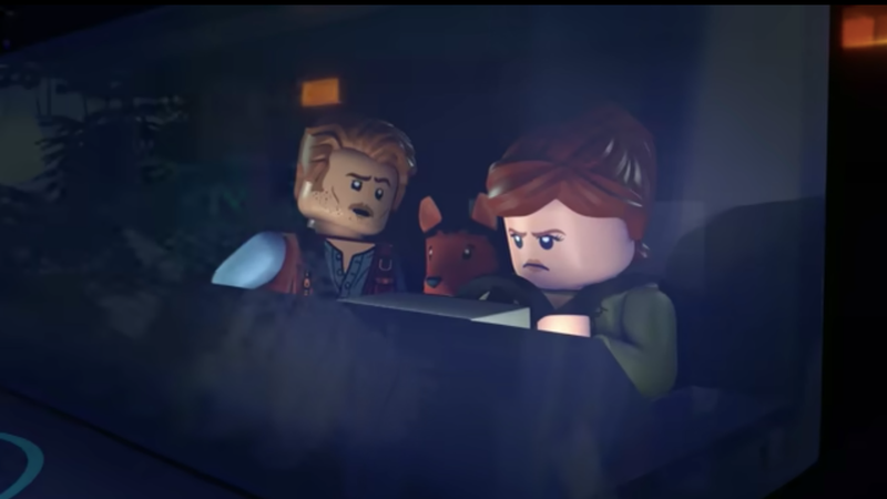 Illustration for article titled What the hell, let's watch a LEGO prequel to Jurassic World
