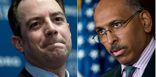 Reince Preibus (Win McNamee/Getty Images); Michael Steele (Saul Loeb/Getty Images)