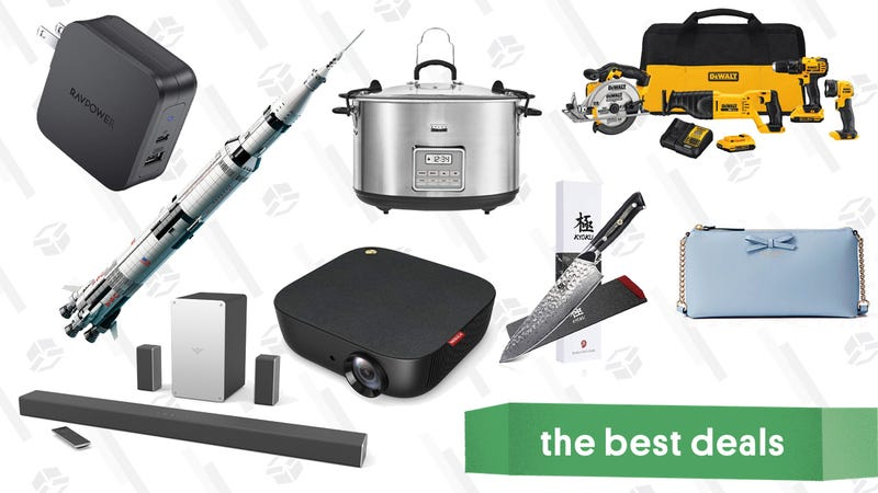 Illustration for article titled Wednesday's Best Deals: $120 Surround Sound, Kate Spade Surprise Sale, LEGO Saturn V Apollo, and More