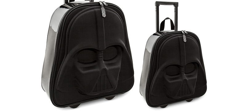 Illustration for article titled A Vader Suitcase Can Even Squeeze Into a TIE Fighter's Overhead Bins