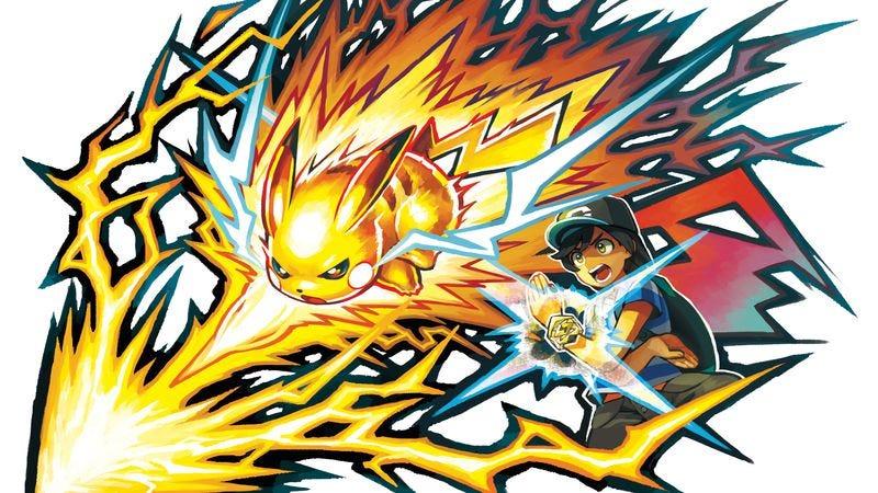 Pikachu executes a Z-Move. (Art: Nintendo)