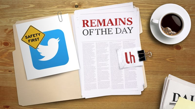 Illustration for article titled Remains of the Day: Twitter Is Making It Easier to Report Harassment