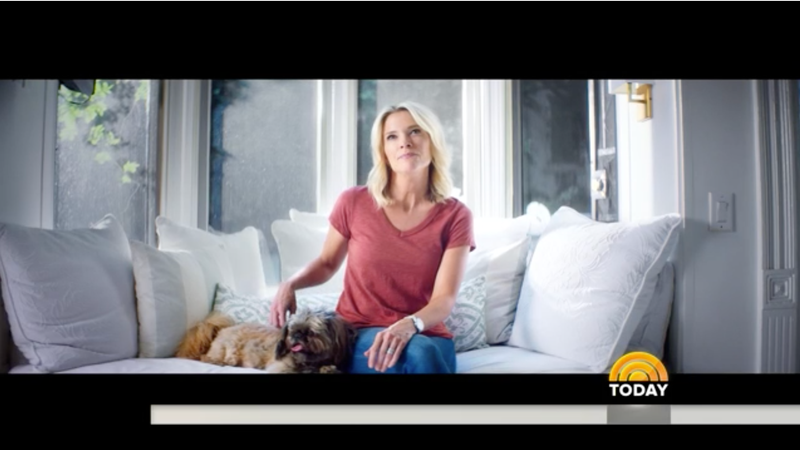 Megyn Kelly petting a dog that may or may not be hers. Image via NBC.