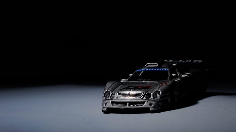 Illustration for article titled Still playing with wireless flash, have a diecast CLK GTR!