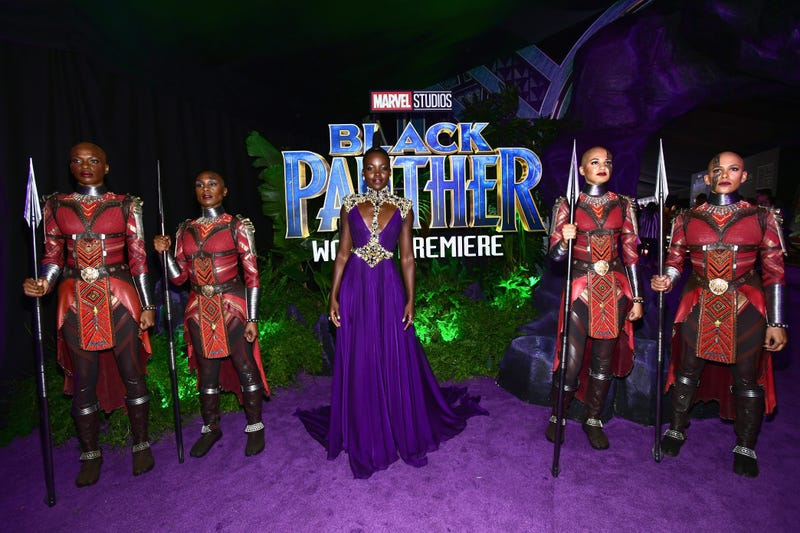 """Lupita Nyong'o attends the """"red carpet"""" premiere of Black Panther on Jan. 29, 2018, in Hollywood, Calif. (Emma McIntyre/Getty Images)"""