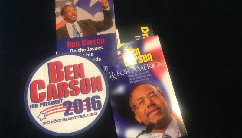 Illustration for article titled CPAC Mental Health Check-In: Ben Carson's Campaign Swag Reminds Us of Our Own Mortality