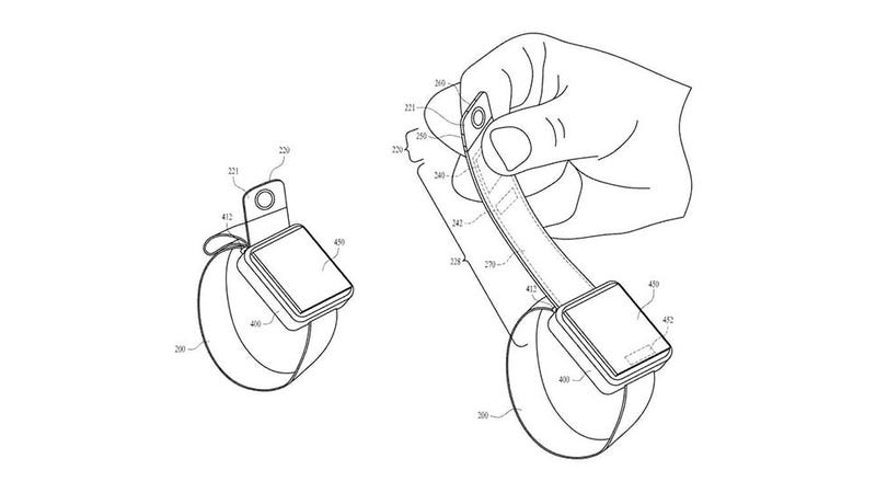 Illustration for article titled Check Out Apple's Ridiculous Patent for Adding a Camera to the Apple Watch