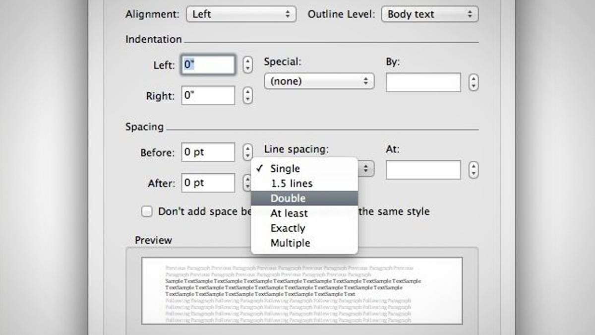 Double Space A Word Document In Two Keystrokes