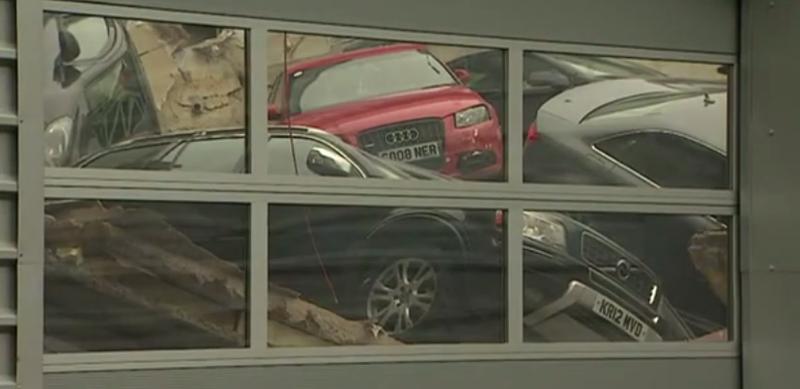 Illustration for article titled Dealership Roof Collapse Ends In Massive Audi-valanche