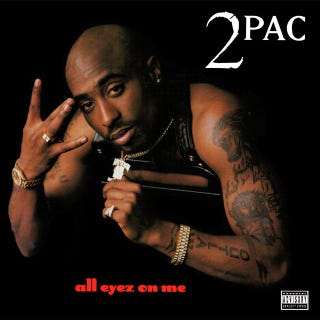 The album cover of Tupac's All Eyez on MeAmazon.com